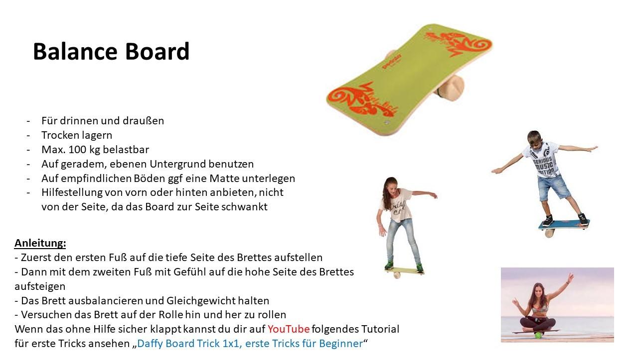 Geräte-Ausleihkarten-Balance-Board